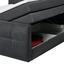 Boxspringbett mit Topper& Bettkasten 180x200cm - Anthrazit, Basics, Holzwerkstoff/Textil (180/200cm) - Carryhome