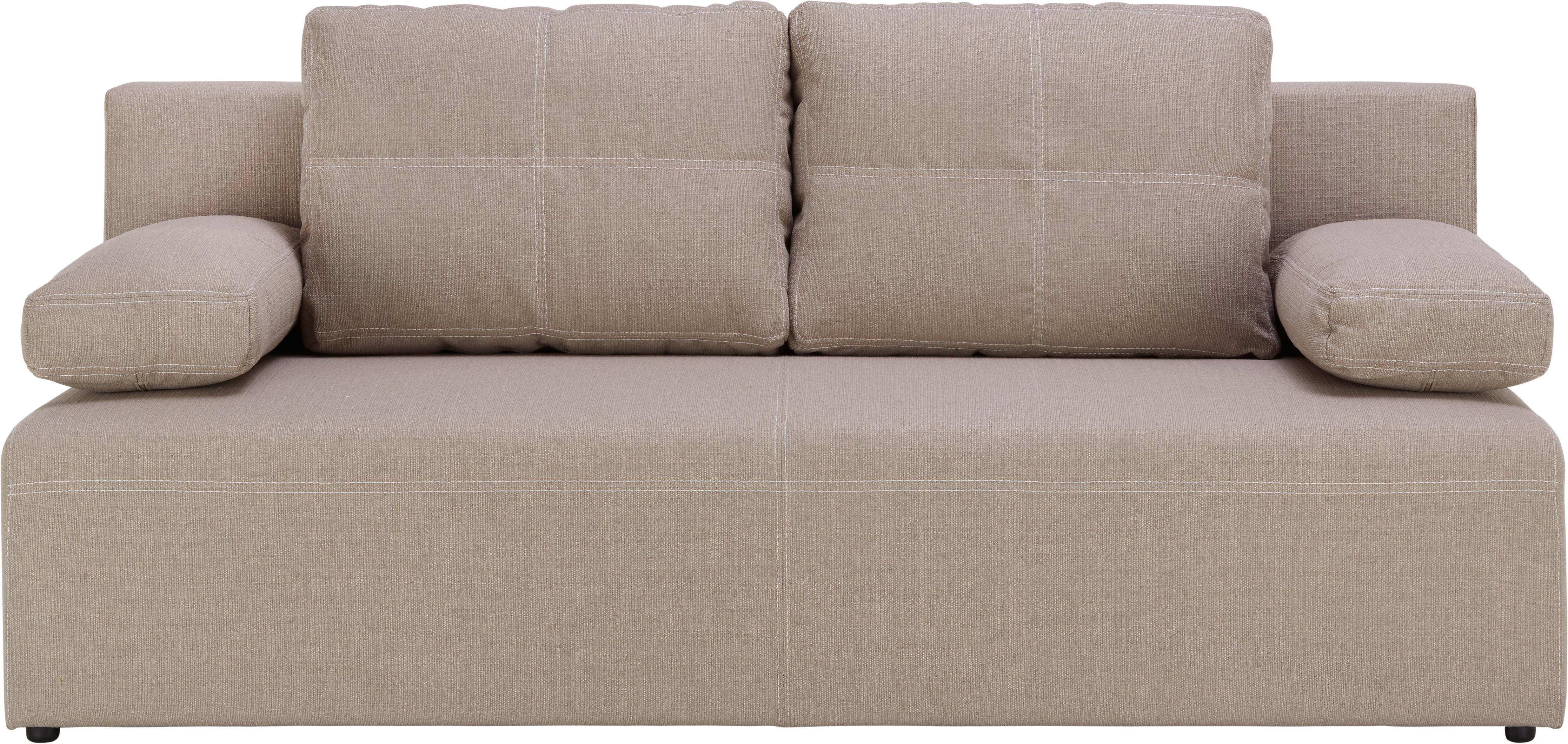Pohovka München - bílá/béžová, Konvenční, textil (202/88/84cm) - MÖMAX modern living