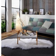 Odkladací Stolík Scandi - prírodné farby/biela, Moderný, drevený materiál/drevo (62,5/45/32cm) - Ombra