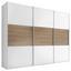 Schwebetürenschrank 249 cm Includo, Weiß - Eichefarben/Weiß, MODERN, Holzwerkstoff (249/222/68cm) - Bessagi Home