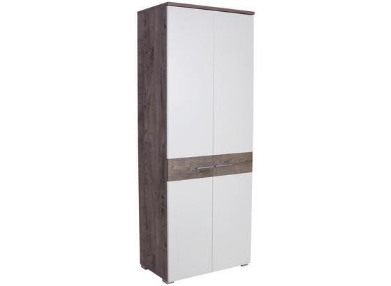 Šatníková Skriňa Monza New - farby dubu/biela, Moderný, kompozitné drevo (80/196/36cm)