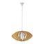 Závěsné Svítidlo Simona - přírodní barvy/béžová, Moderní, dřevo (54/30cm) - Modern Living