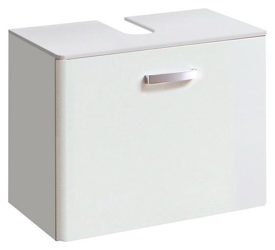 Waschbeckenunterschrank Phönix 60 cm Weiß - Weiß, MODERN, Holzwerkstoff (60/47/35cm)