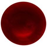 Dekoteller Roxana Ø 32 cm - Rot/Silberfarben, KONVENTIONELL, Kunststoff (32cm) - Ombra