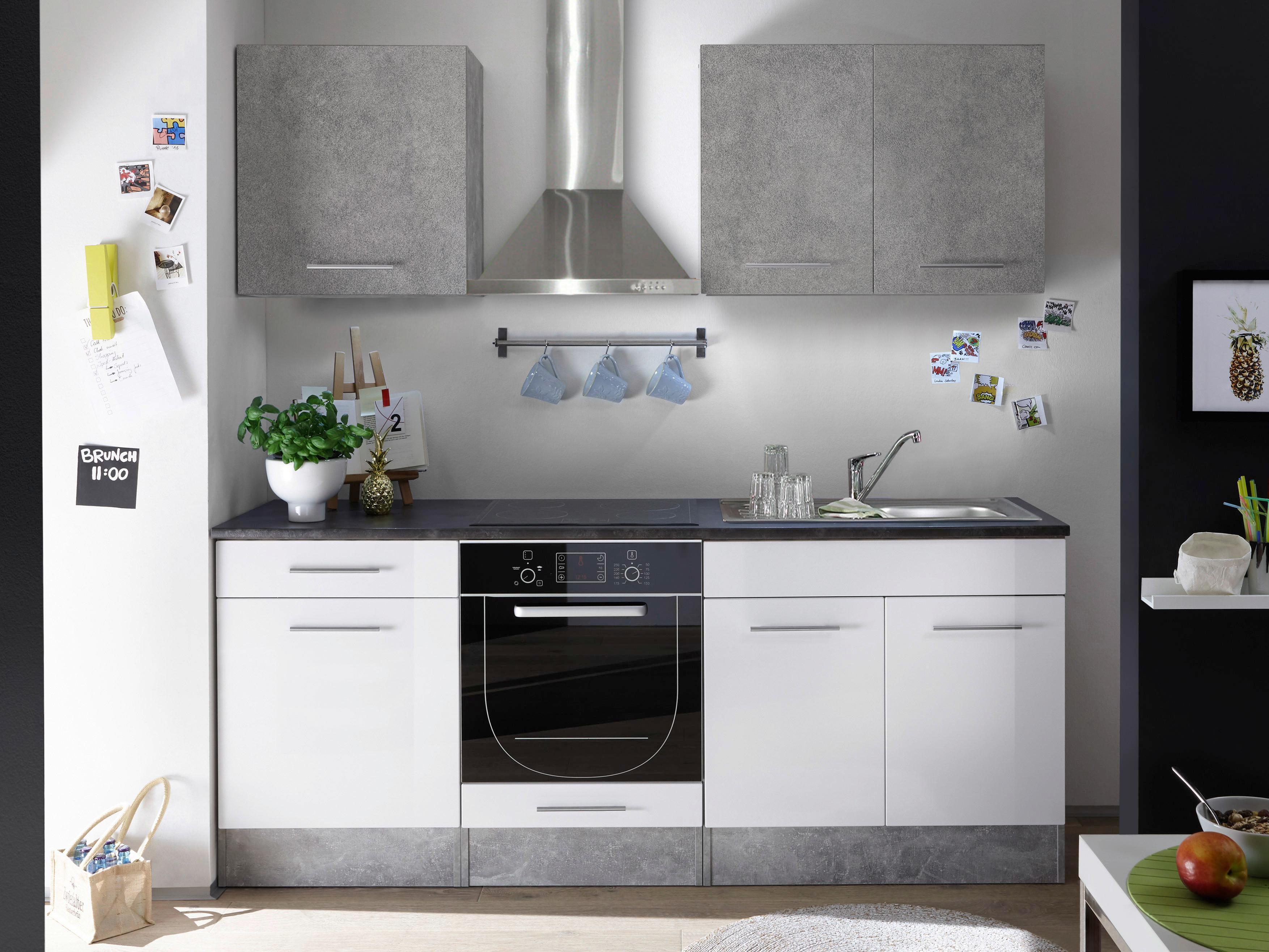 Mini Kühlschrank Möbelix : Küchenblock welcome stone mini cm beton weiß online kaufen
