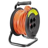 Kabeltrommel 20 M - Schwarz/Orange, Kunststoff (20/33/24cm) - Erba