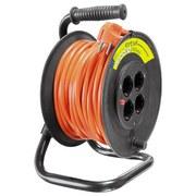 Verlängerungskabel Kabeltrommel 20m - Schwarz/Orange, Kunststoff (20/33/24cm) - Erba