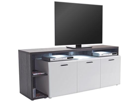 Tv Stolík Garda Garf 03 - čierna/biela, Moderný, kompozitné drevo (177,2/65/42cm)