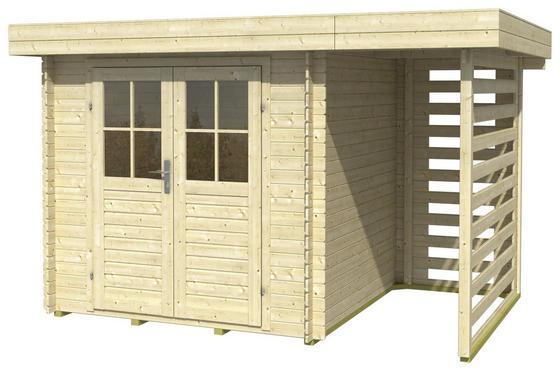 Blockhaus Frodo 2 - Naturfarben, MODERN, Holz (300/200cm)