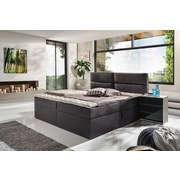 Boxspringbett Mercura 90x200 Graphit - Graphitfarben, MODERN, Holzwerkstoff/Textil (195/115/220cm)