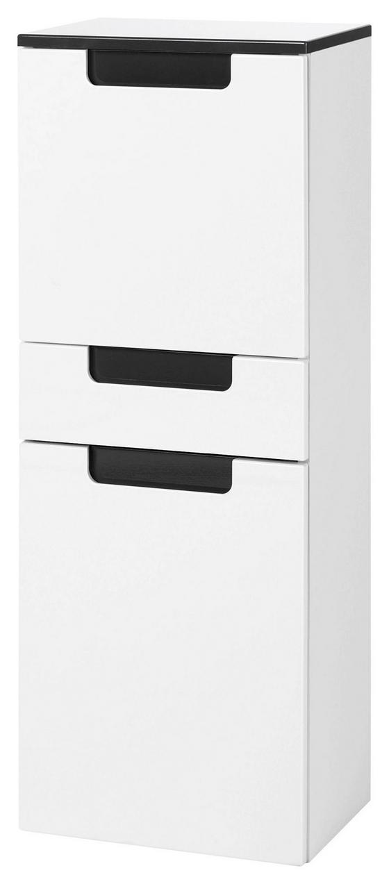 Midischrank Siena 40cm Weiß/hglz Anthrazit - Anthrazit/Weiß, MODERN, Holzwerkstoff (40/105/27cm)