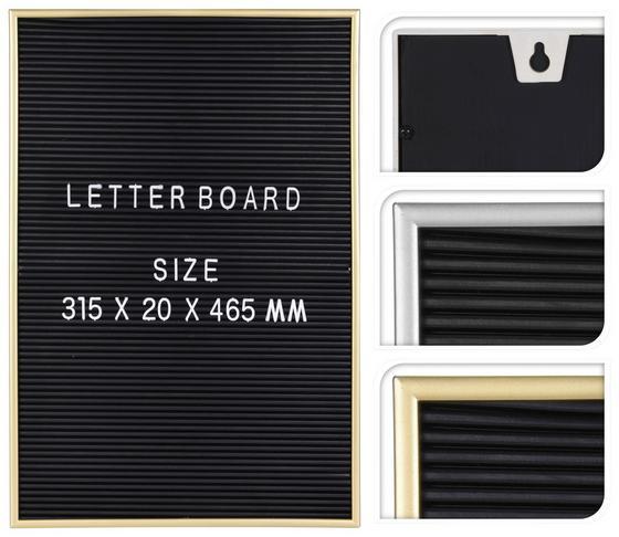 Memoboard Retro - Silberfarben/Goldfarben, Kunststoff (31,5/2/46,5cm)