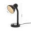 Lampa Na Psací Stůl Leona, Max. 40 Watt - černá, kov/umělá hmota (12,5/34/18,5cm) - Based