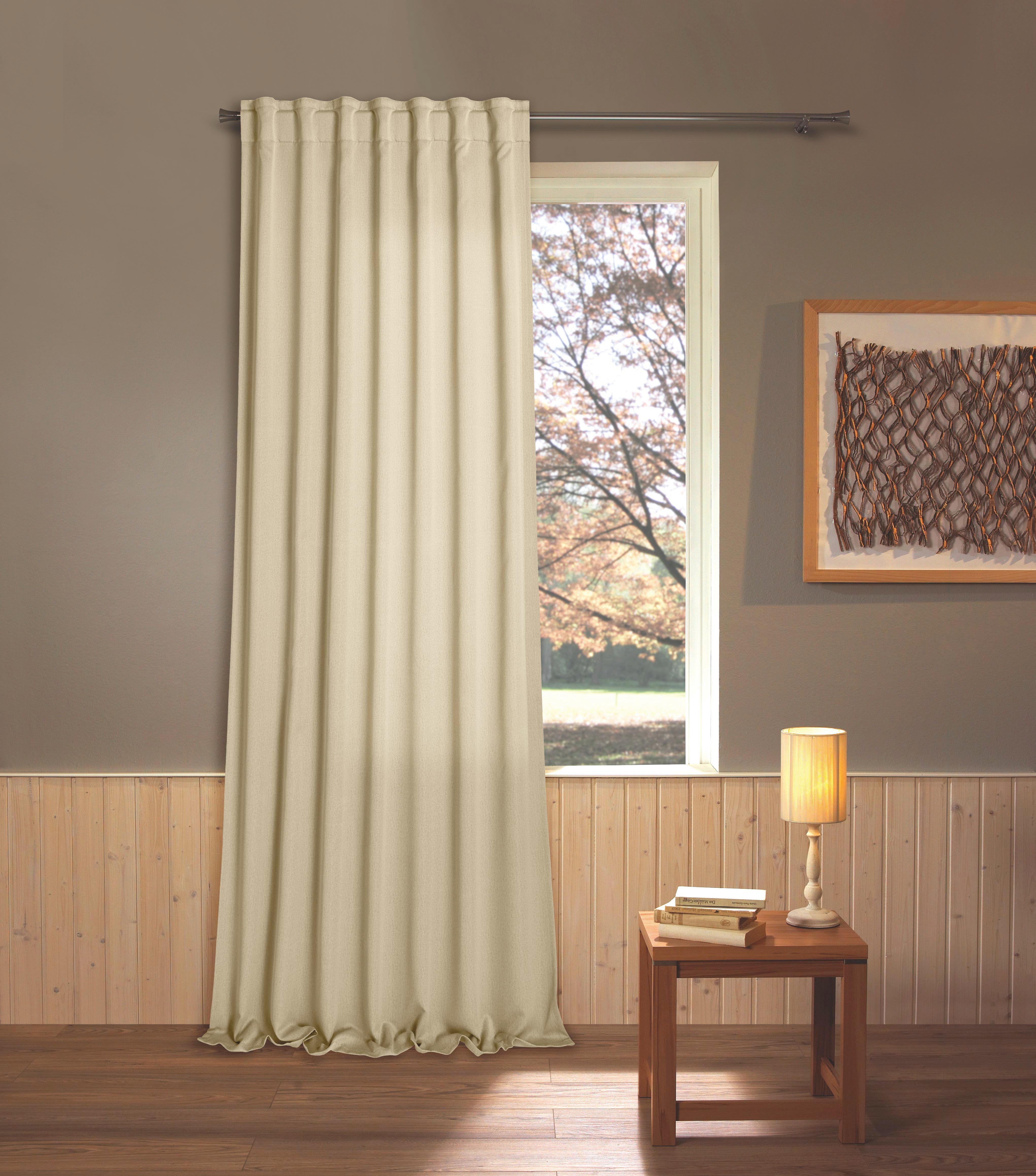 Készfüggöny Marlies - krém, konvencionális, textil (135/245cm) - JAMES WOOD