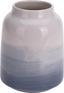 Vase Ailina Ø 12,5 cm - Blau/Weiß, Design, Keramik (12,5/15,5cm)