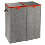 Wäschetonne Duo Filz Orange - Orange/Grau, MODERN, Textil (52/54/28cm)