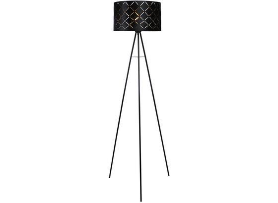Stojací Lampa Evelyn V: 149cm, 40 Watt - černá, Lifestyle, kov (149cm) - Modern Living