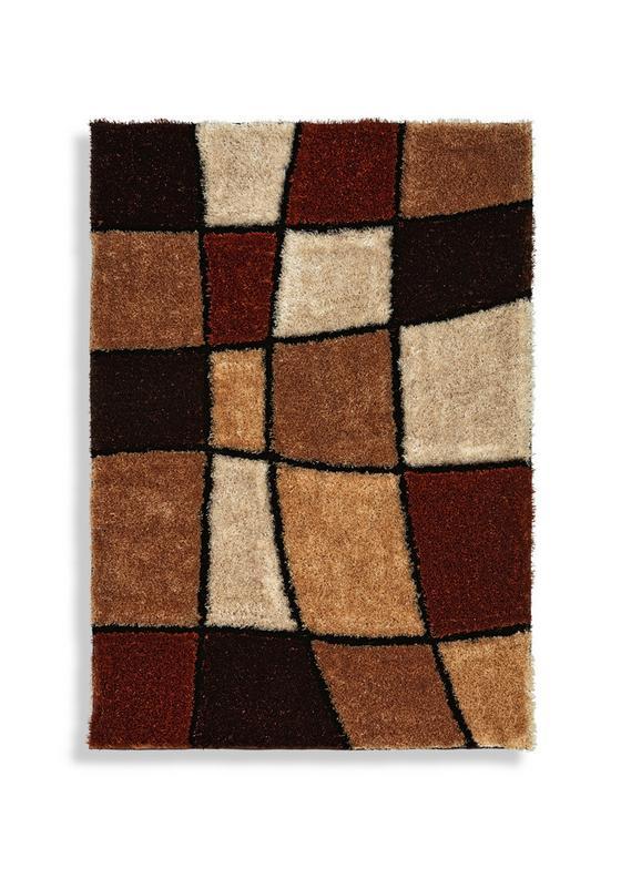 Hochflorteppich Fancy 120x170 cm - Beige/Braun, KONVENTIONELL, Textil (120/170cm) - Luca Bessoni