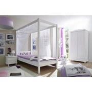 Himmelbett Laluna 90x200 cm - Weiß, ROMANTIK / LANDHAUS, Holz (90/200cm) - Carryhome