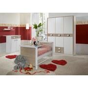 3- Dílny Pokoj Pro Miminka Jette - bílá/barvy dubu, Moderní, dřevěný materiál (198/150/300cm)