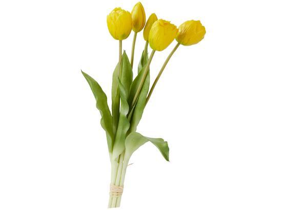 Květina Umělá Anna - zelená/žlutá, Romantický / Rustikální, kov/umělá hmota (39cm)