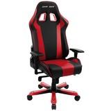 Gamingstuhl DX Racer King 06 Schwarz/Rot - Rot/Schwarz, MODERN, Kunststoff/Textil (80/131-141/80cm) - Dxracer