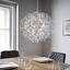 Led Závesná Lampa Clea - chrómová, Moderný, kov (40/135cm) - Modern Living