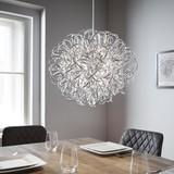 Led Závěsné Svítidlo Clea - barvy chromu, Moderní, kov (40/135cm) - Modern Living
