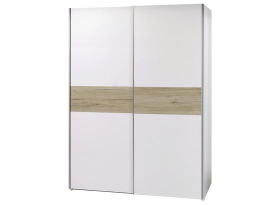 Skriňa S Posuvnými Dverami Puls *cenový Trhák* - farby dubu/biela, Moderný, kompozitné drevo (170/195,5/58,5cm)