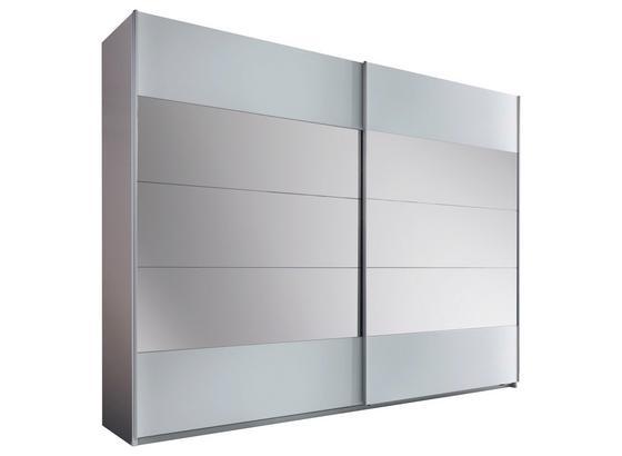 Schwebetürenschrank mit Spiegel 270cm Penta, Weiß Dekor - Weiß, MODERN, Glas/Holzwerkstoff (270/210/60cm)