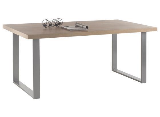 Esstisch Anka L: ca. 180 cm Eiche Dekor - Anthrazit/Sonoma Eiche, KONVENTIONELL, Holzwerkstoff/Metall (180/90/77cm) - Carryhome