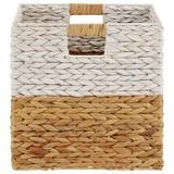 Regalkorb Gavril - Naturfarben/Weiß, KONVENTIONELL, Weitere Naturmaterialien/Metall (31/31/31cm) - Ombra