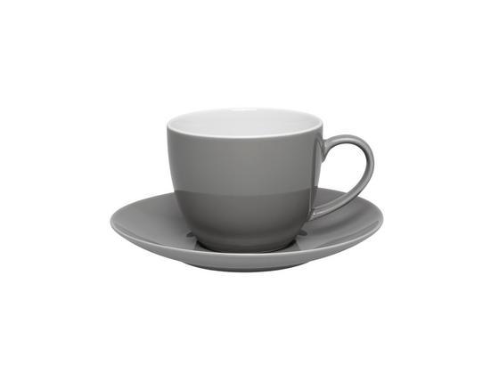 Šálka Na Kávu S Podšálkou Sandy - sivá, Konvenčný, keramika (5/6,9cm) - Mömax modern living