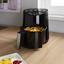 Heißluftfritteuse Moritz 1300W ca. 3,5 Liter mit Frittierkorb - Edelstahlfarben/Schwarz, MODERN, Kunststoff/Metall (24,5/30,3/28,7cm) - Bono