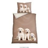 Bettwäsche Tiermotiv Dogs 140/200 cm - Multicolor, Basics, Textil (140/200cm)
