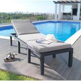 Sluneční Lehátko Cici - světle šedá/tmavě šedá, Moderní, kov/textil (65/35/195cm) - MÖMAX modern living