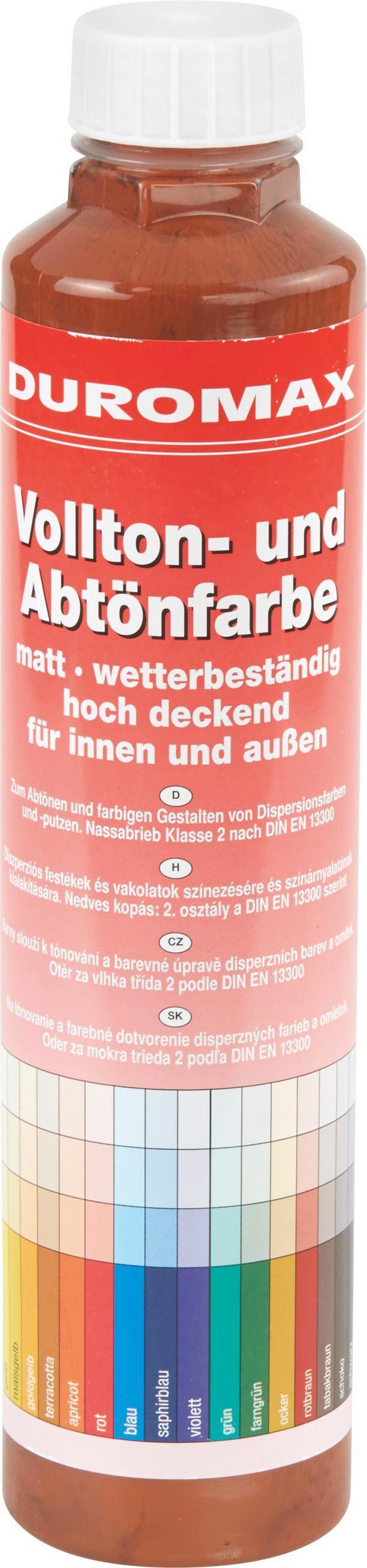 Abtönfarbe Tabakbraun Matt - KONVENTIONELL (0,75l) - Duromax