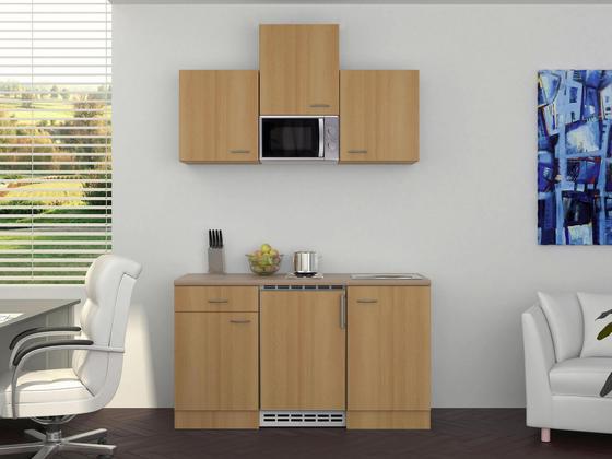 Küchenblock Nano 150 cm Buche - Buchefarben/Creme, MODERN, Holzwerkstoff (150/60cm)
