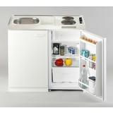 Miniküche Pantry B: 100 cm Weiß - Weiß, MODERN, Holzwerkstoff/Metall (100cm) - MID.YOU