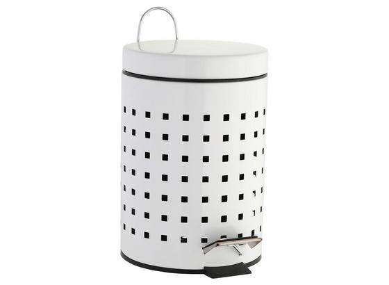 Kosmetikeimer Quadro 130577 - Schwarz/Weiß, MODERN, Kunststoff/Metall (16,8/24,5cm)