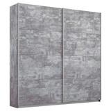 Schwebetürenschrank 181cm Belluno, Stone Grau Dekor - Grau, MODERN, Holzwerkstoff (181/230/62cm) - MID.YOU
