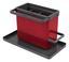 Spülorganizer Tidytex - Rot/Grau, Kunststoff (24/13/14cm)