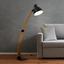 Stojací Lampa Nerea - černá/přírodní barvy, Moderní, kov/dřevo (87/22/150cm) - Modern Living
