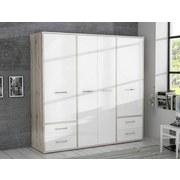 Kleiderschrank Jnds841-P95f Jandia B: 208 cm - Eichefarben/Weiß, Basics, Holzwerkstoff/Kunststoff (208.9/201.5/60cm) - MID.YOU