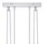 Závesná Lampa Gido 180cm, 40 Watt - opál/niklová, Konvenčný, kov/sklo (80/12/180cm) - Mömax modern living