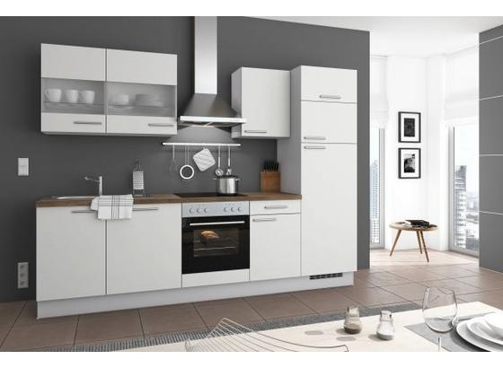 Küchenblock Speedo 280cm Weiß - Weiß, LIFESTYLE, Holzwerkstoff (280cm) - Qcina