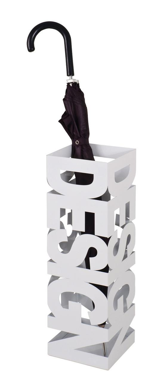 Stojan Na Deštník Design - bílá, Moderní, kov (16/16/48cm)