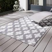 Koberec Pre Exteriér Club - sivá/biela, Moderný, textil (120/170cm)