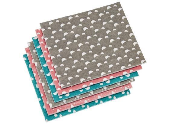 Savá Utěrka Paula 6-dílná - šedá/růžová, Moderní, umělá hmota (18/20/2cm) - Mömax modern living