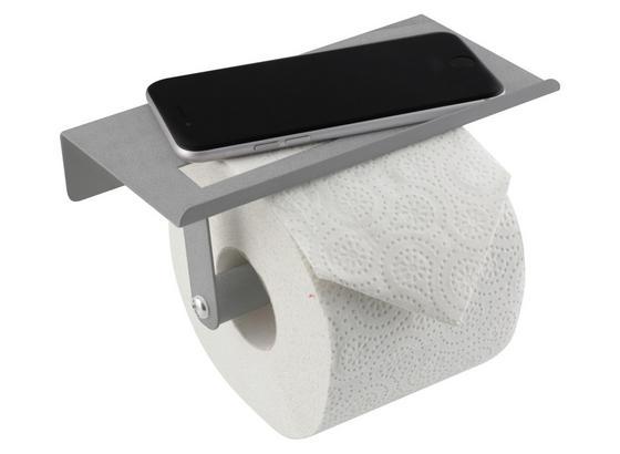 Toilettenpapierhalter Axentia - Silberfarben, KONVENTIONELL, Metall (18/7,5/9,7cm)